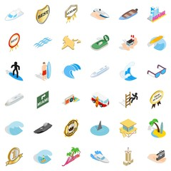 Boat vessel icons set. Isometric style of 36 boat vessel vector icons for web isolated on white background