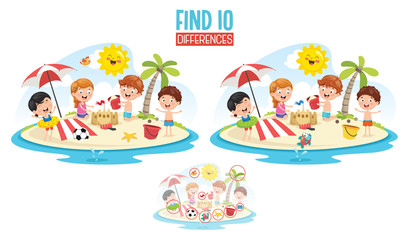 Vector Illustration Of Ten Differences