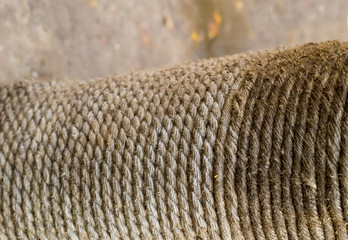 texture rustic rope gray fiber wicker vertical row jute weathered grunge background close-up