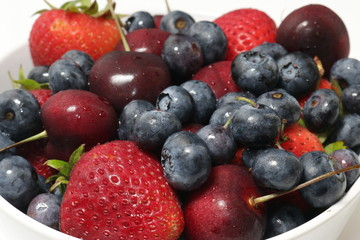 Blueberries, Cherries, Strawberries7