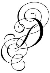 Calligraphy Alphabet Letter D