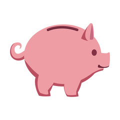 Piggy money savings vector illustration graphic design