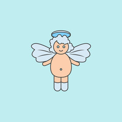 baby angel  icon. Element of angel and demon icon for mobile concept and web apps. Filled outline baby angel  icon can be used for web and mobile