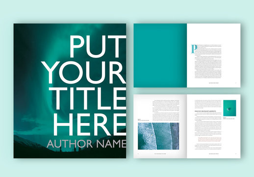 Book Layout with Turquoise Accents