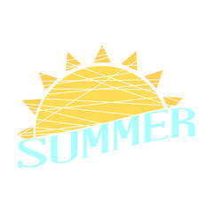 Abstract summer label