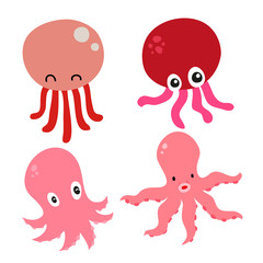 squid character vector design