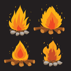 fire vector collection design
