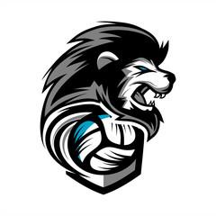 Lion Volleyball Team Logo