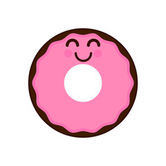 Isolated happy donut emote