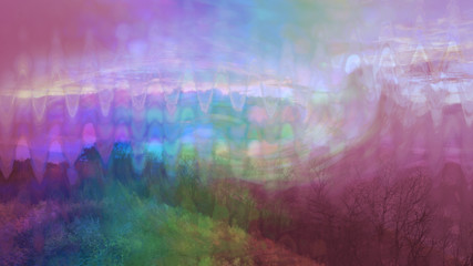 A psychedelic view of forest scenery in Western North Carolina.