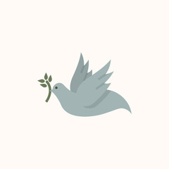 Illustration of a dove of peace