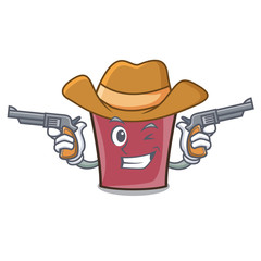 Cowboy hot chocolate character cartoon