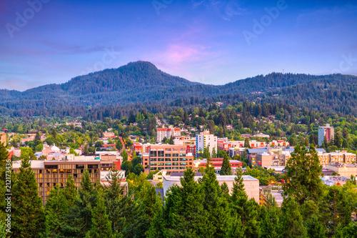 Fototapete Eugene, Oregon, USA Skyline