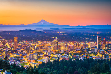Fotomurales - Portland, Oregon, USA Skyline
