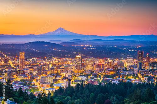 Fototapete Portland, Oregon, USA Skyline