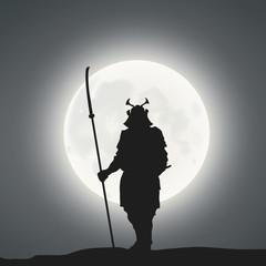 A Samurai Under The Moonlight