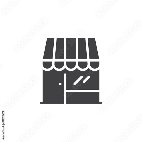 Store front vector icon. filled flat sign for mobile concept and web  design. Shop simple solid icon. Market symbol 6865029f89e32