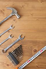 DIYの工具ハンマー、スパナ