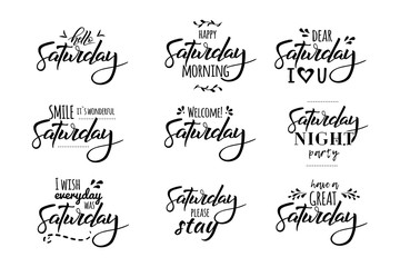 hello funny saturday lettering
