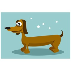 friendly cute dachshund dog mascot character cartoon