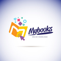 My books logo concept. online book store icon - vector