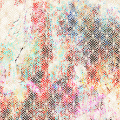 Geometrical watercolor texture repeat modern pattern