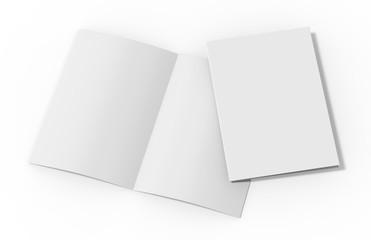 Blank white reinforced A4 single pocket folder on isolated white background, 3d illustration