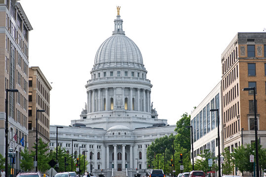 The Wisconsin State Capitol, in Madison, Wisconsin, houses both chambers of the Wisconsin legislature along with the Wisconsin Supreme Court and the Office of the Governor