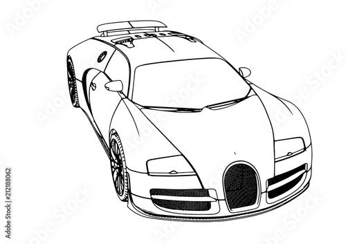Sketch Of A Sports Car Vector Stock Image And Royalty Free Vector