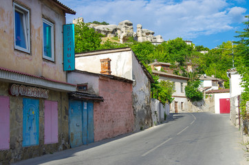 BAKHCHISARAY, CRIMEA - June, 2018: The streets of the old city