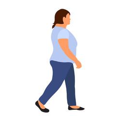 Wall Mural -  flat style woman is walking