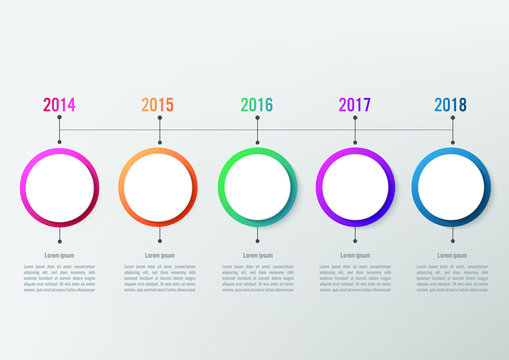 Business infographic template with 5 options circle shape, Abstract elements diagram or processes, Vector business template for presentation.Creative concept for infographic.