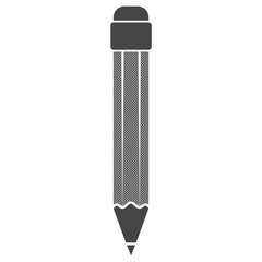 Icon of pencil on white background