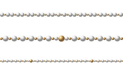 Beautiful multi-colored beads. String beads are realistic. Decorative element.vector illustration