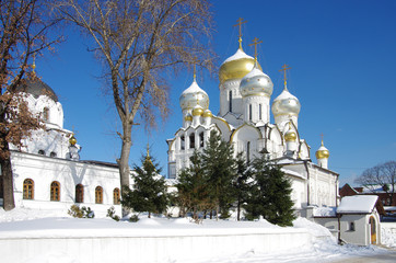 MOSCOW, RUSSIA - February, 2018: Conception Convent in winter day