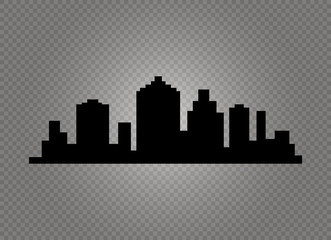 City skyline vector illustration. Urban landscape. Daytime cityscape in flat style