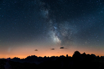Milkyway on Dolomites, Italy
