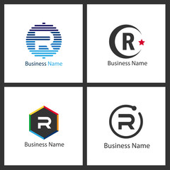 Letter R Logo Set Design