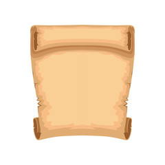 Ancient paper scroll with space for text vector Illustration on a white background