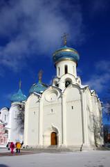 SERGIYEV POSAD, RUSSIA - February, 2018: Trinity Sergius Lavra in Sergiev Posad