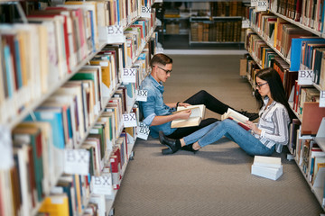 Students Studying In University Library