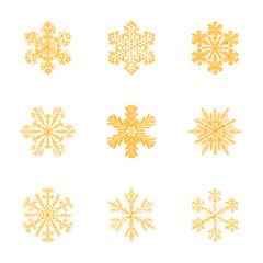 assembly flat shading style illustration snowflake