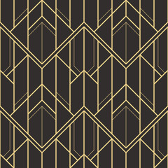 Abstract art deco seamless pattern 04