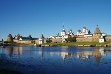 SOLOVKI, REPUBLIC OF KARELIA, RUSSIA - August, 2017: Solovki Monastery in summer