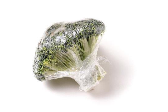 Organic Broccoli wrap in plastic