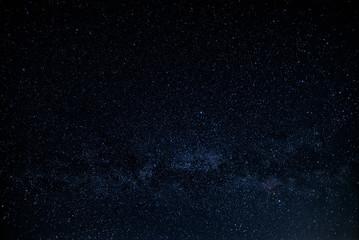 night sky stars / night photography starry sky summer countryside Ukraine
