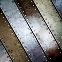 steel metal plate background, 3D