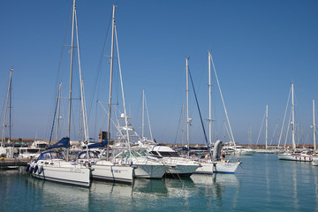 yachts in port
