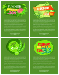 Summer Sale Collection of Web Vector Illustration