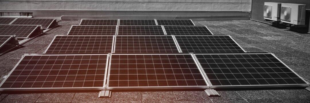 Solar panels at solar station
